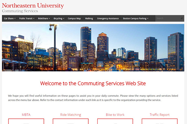 Northeastern University Commuting Services, Boston MA